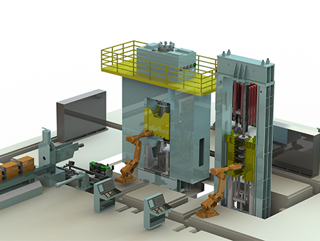 Fully automatic forging line