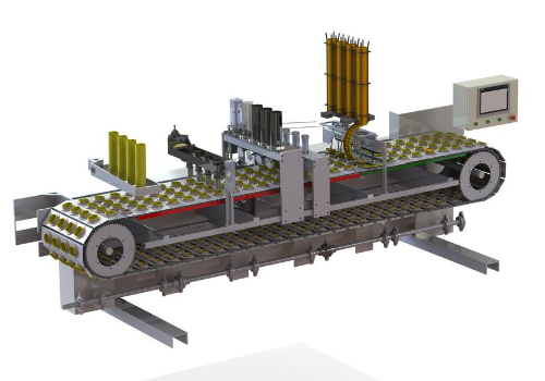 Ice cream filling and packaging machine